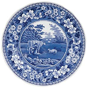 Spode Blue Room Traditions Dinner Plate(s) Milkmaid