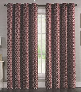 modern elements embroidered grommet curtain