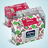 2x Kleenex Holiday Disposable Towels, Random Designs (55 X 1-ply Disposable White Towels)