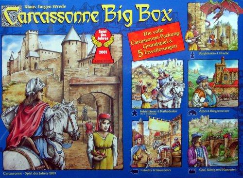 Carcassonne Big Box – Grundspiel & 5 Erweiterungen