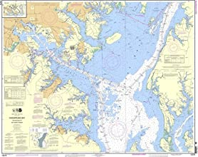 NOAA Chart 12278 Chesapeake Bay Approaches to Baltimore Harbor