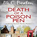 Death of a Poison Pen: Hamish Macbeth, Book 19 Audiobook by M. C. Beaton Narrated by David Monteath