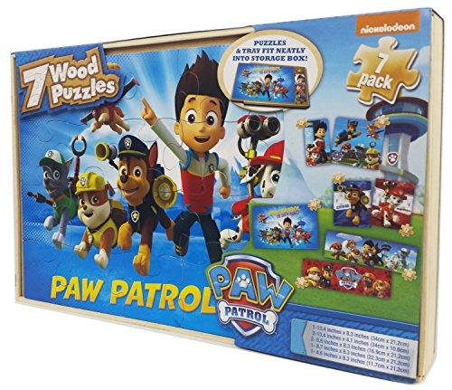 Paw Patrol 7 Wood Jigsaw Puzzles