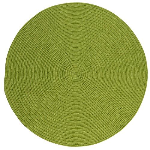 Boca Raton Polypropylene Braided Round Rug, 6-Feet, Bright Green