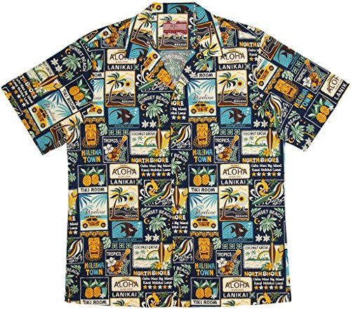 RJC Men's Vintage Islands Hawaiian Shirt 0