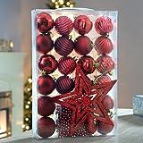 WeRChristmas - Set decorazioni assortite per albero di Natale, 26 pezzi, colore: Rosso