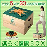 ≪楽らく健康BOX≫〔NHKも注目〕発明主婦 小川信子のアイデア品/踏み台昇降・スローステップ・有酸素運動/発明大学