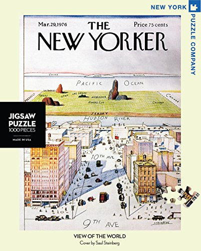 New York Puzzle Company - New Yorker View of the World - 1000 Piece Jigsaw Puzzle (New York Puzzle Company 1000 compare prices)