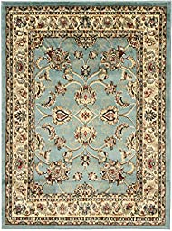 Sweethome King Collection Mahal Blue Teal Oriental Design (7\'10\