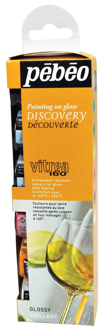 Pebeo vitrea 160 glass paint discovery collection 6 for Pebeo vitrea 160 glass paint instructions