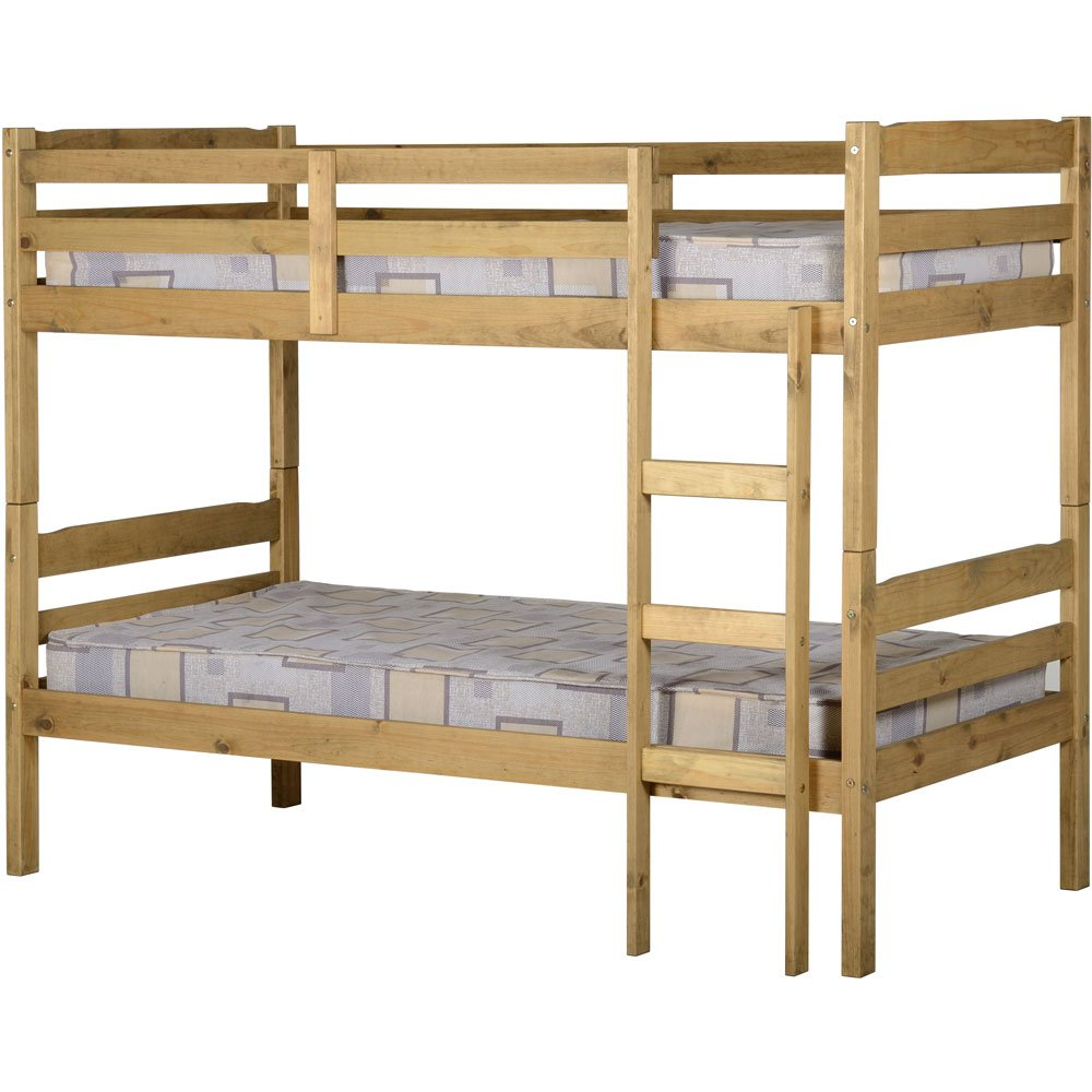 Panama 3&' Single Bunk Bed Natural Waxed Oak Finish       review and more information