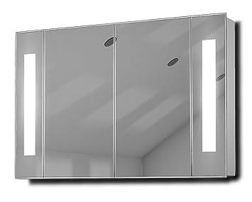 Armoire de toilette lumineux led led antibu e capteur for Armoire de toilette miroir lumineux