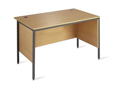 Minuet 1228 Straight Desk 4 Legs 2 Modesty Panels - Beech