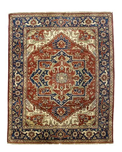 Bashian Rugs One-of-a-Kind Hand Knotted Indo-Herez Rug, Rust, 8' 3 x 9' 10