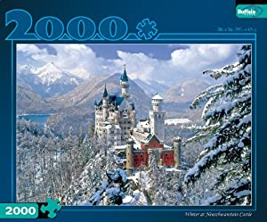Winter at Neuschwanstein Castle 2000pc Jigsaw Puzzle