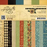 Graphic 45 French Country Patterns and Solid Paper Pad, 6 by 6-Inch