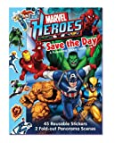 Marvel Heroes Save the Day A Panorama Sticker Storybook (0794419402) by Marvel