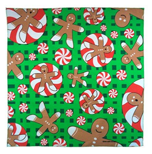 The Bandanna Company Women's Novelty Seasonal Holiday Bandana One Size Christmas Gingerbread Man