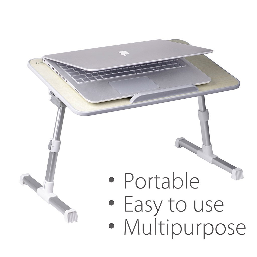 "Avantree Multifunctional Laptop Desk, Easily Adjustable | Light Weight | Foldable Standing Desk, Portable Bed Tray/Table/Book Stand. Fit for 17"" Laptop or Smaller - Minitable"