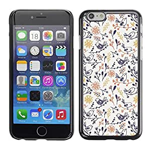 Omega Covers - Snap on Hard Back Case Cover Shell FOR Apple Iphone 6 Plus / 6S Plus ( 5.5 ) - Porcelain Blue Yellow Wallpaper Pattern