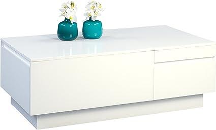 HomeTrends4You 209350 Couchtisch, MDF, weiß hochglanz, 110 x 60 x 40 cm