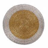 "Mela Round Glass Beaded place mats - 12"", Set of 2"