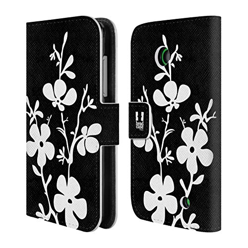 Official One Direction 1D Cherry Blossom Bnw Floral Leather Book Wallet Case Cover for Nokia Lumia 630 / 635