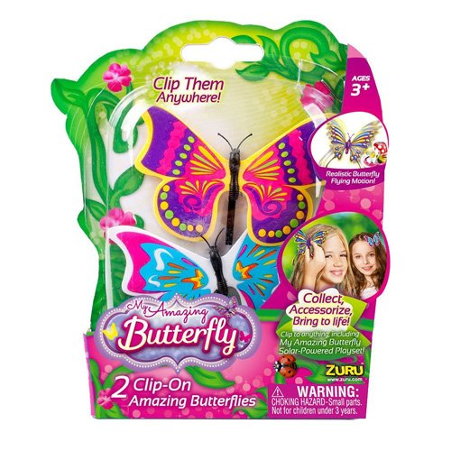Zuru My Amazing Solar Butterfly 2 Pack Childrens Kids Girls Play Set Toys - 1