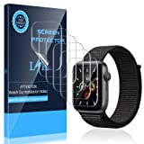 LK [6 Pack] Screen Protector for Apple Watch Series 5 44mm Flexible TPU Film Max Coverage Anti-Scratch HD Clear Bubble Free