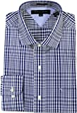 Tommy Hilfiger Mens Slim Fit Modern Plaid Dress Shirt
