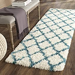 Safavieh Safavieh Kids Shag Collection SGK569C Ivory and Blue Area Rug, 2 feet 3 inches by 5 feet (2\'3\