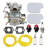HIPA 545070601 Carburetor + Air Filter Fuel Line Primer Bulb for Poulan Pro P3516PR P3314WS P3314WSA P4018WM P4018WT P4018WTL Gas Chainsaw