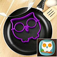 Rabbit Silicone Egg Mold Ring Cooking Tools Fried Egg Kitchen Gadgets Cheapest Price (Purple owl)
