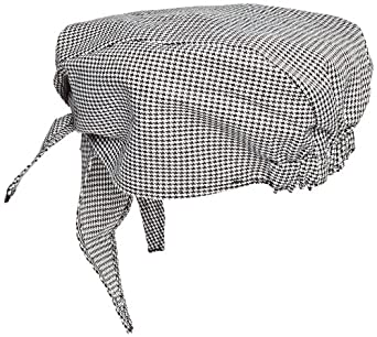 San Jamar H020 Cotton Scarf Hat, Hounds Tooth