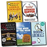 QI Collection 5 Books Set (The Qi Book of Quotations - Advanced Banter, Book Of General Ignorance, The Second Book of General Ignorance, The Qi Book of the Dead, The Qi Book of Animals) John Lloyd