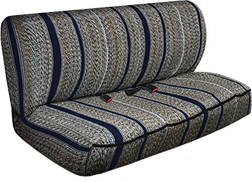OxGord 2pc Full Size Heavy Duty Saddle Blanket Bench Seat Covers - Navy Blue (Bench Seat Covers For Girls compare prices)