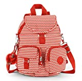 Kipling Firefly N Chevron Red Print Red Backpack Rucksack Bag