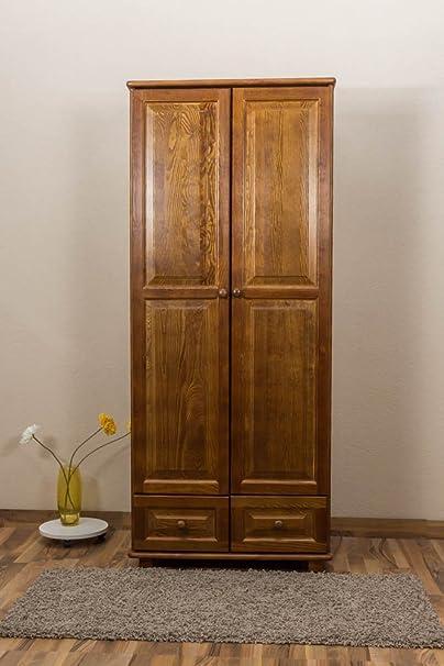 Armoire bois du pin massif en couleur de chêne 012 - Dimensions: 190 x 80 x 60 cm (H x L x P)