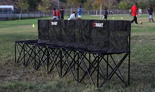 Folding Sports Bench Sweat Bench 6 Seat Folding