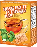 Monk Fruit In The Raw - 40 Packet Boxes, (100% Natural Zero Calorie Sweetener), Buy EIGHT Boxes and Save Per Box, Each Box has 40 Individually Wrapped Packets. A Total of 320 Packets! (Pack of 8)