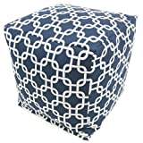 Majestic Home Goods Links Cube, Small, Navy Blue