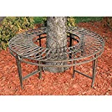 Park Avenue Collection Gothic Roundabout Steel Garden Bench