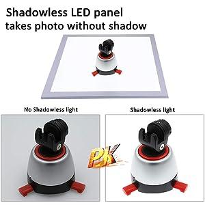 Mini Photo Studio Box with Shadowless LED Light Panel,Foldable Photo Light Box 24 x 23 x 22 cm,Studio Shooting Tent Box kit with Dual LED Light and 6 Photography backdrops (Color: Clear-upgrade Studio)
