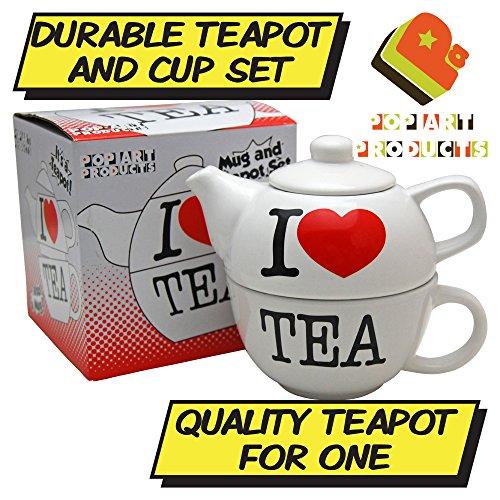 I Love Tea Théière pour One-Fantaisie-Tasses à thé pot de cuisine Home Office