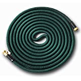 Expandable 25' Expanding Hose, Strongest Expandable Garden Hose on the Planet. Solid Brass Ends, Double Latex Core, Extra Strength Fabric