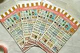 Huaha Tech 6 Sheets Decorative Scrapbooking Craft Sticker Diary Album Sticker Adhesive (3 set)