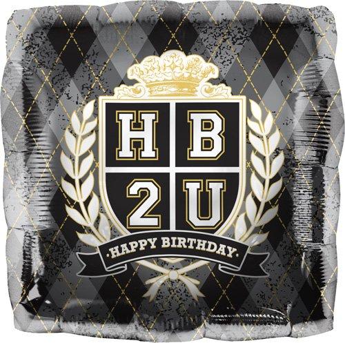 HB2U Crest Helium Foil Balloon - 18 inch