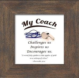 Coach Appreciation Saying Framed Gift 3.5