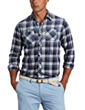 Scotch & Soda Men's Check Long Sleeve Shirt