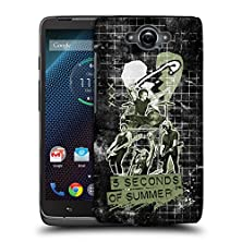buy Official 5 Seconds Of Summer Live Camo Safety Pin Heart Hard Back Case For Motorola Droid Turbo
